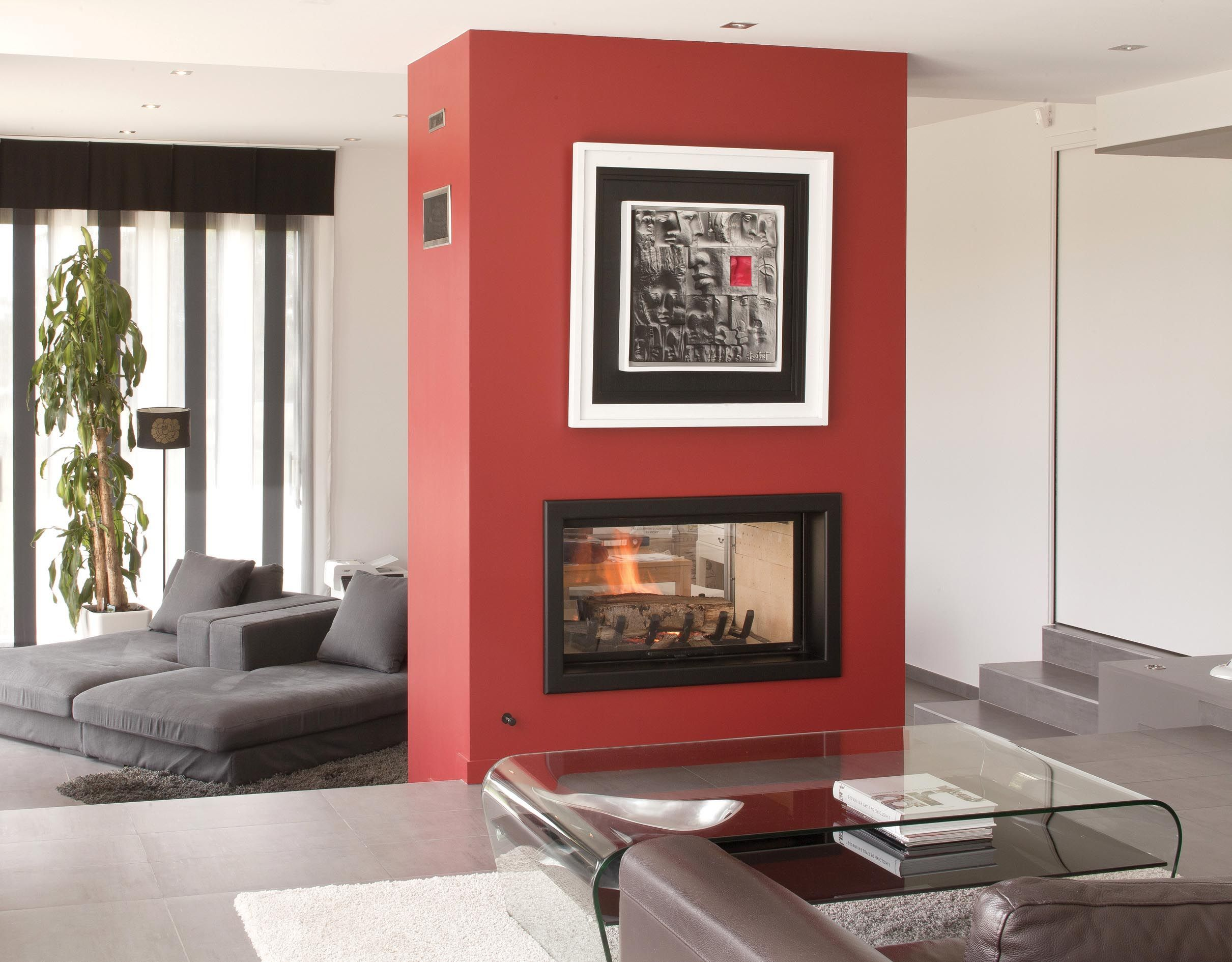 axis h1200ds double sided fireplace the artisan engineered axis