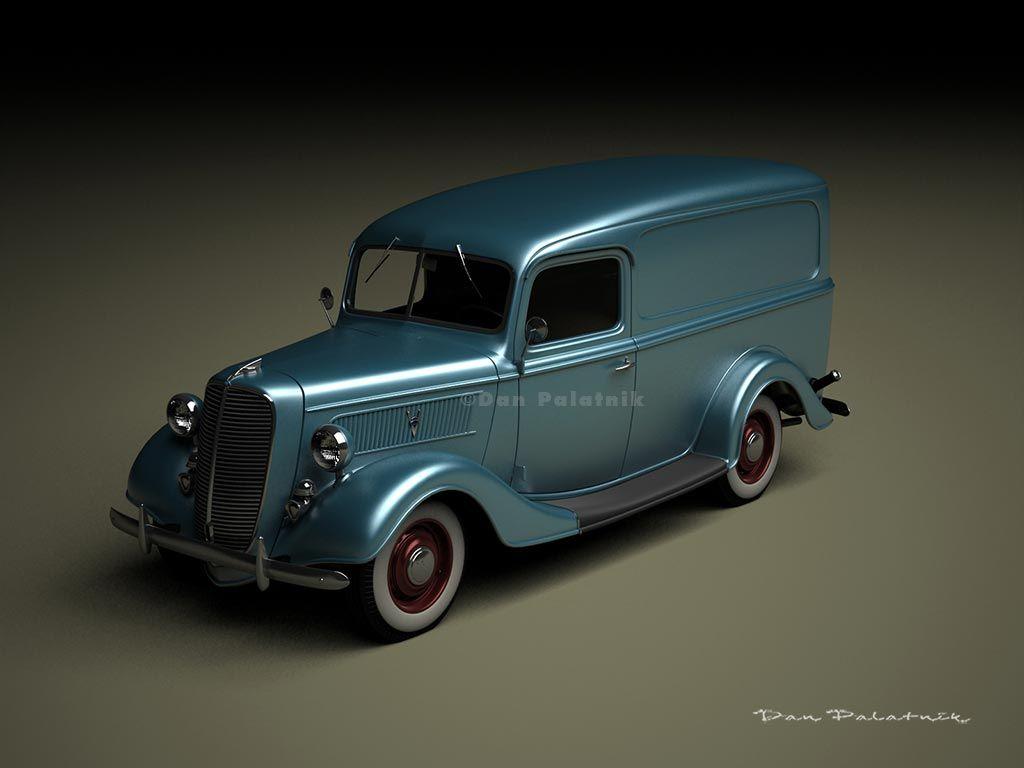 A Garagem Digital de Dan Palatnik | The Digital Garage Project: 1937 Ford Half-Ton Panel Van