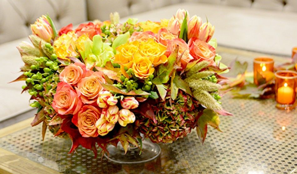 Vibrant Autumn From Empty Vase Florist Beautiful Floral