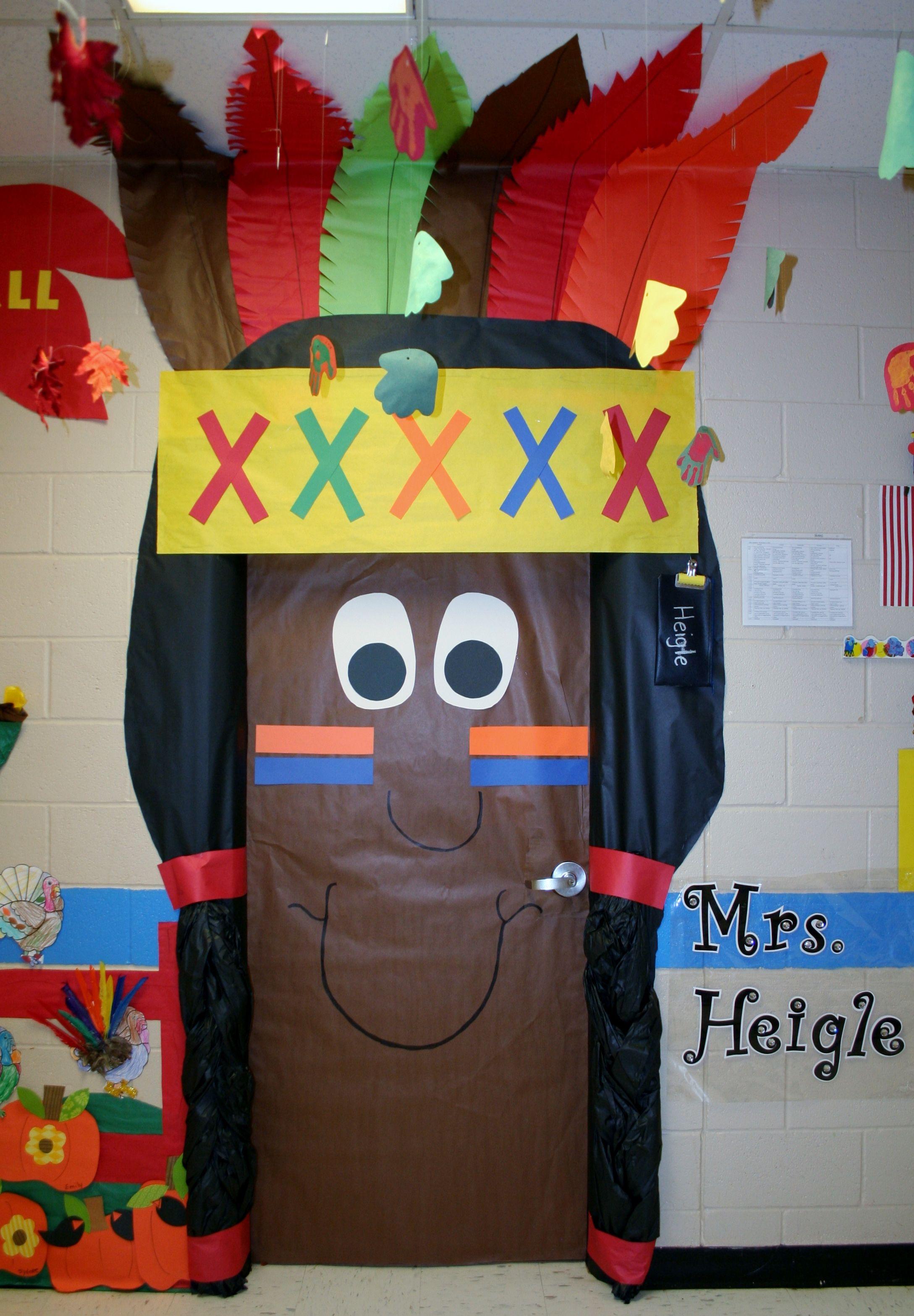 Indian Boy Classroom Door Decoration Thanksgiving