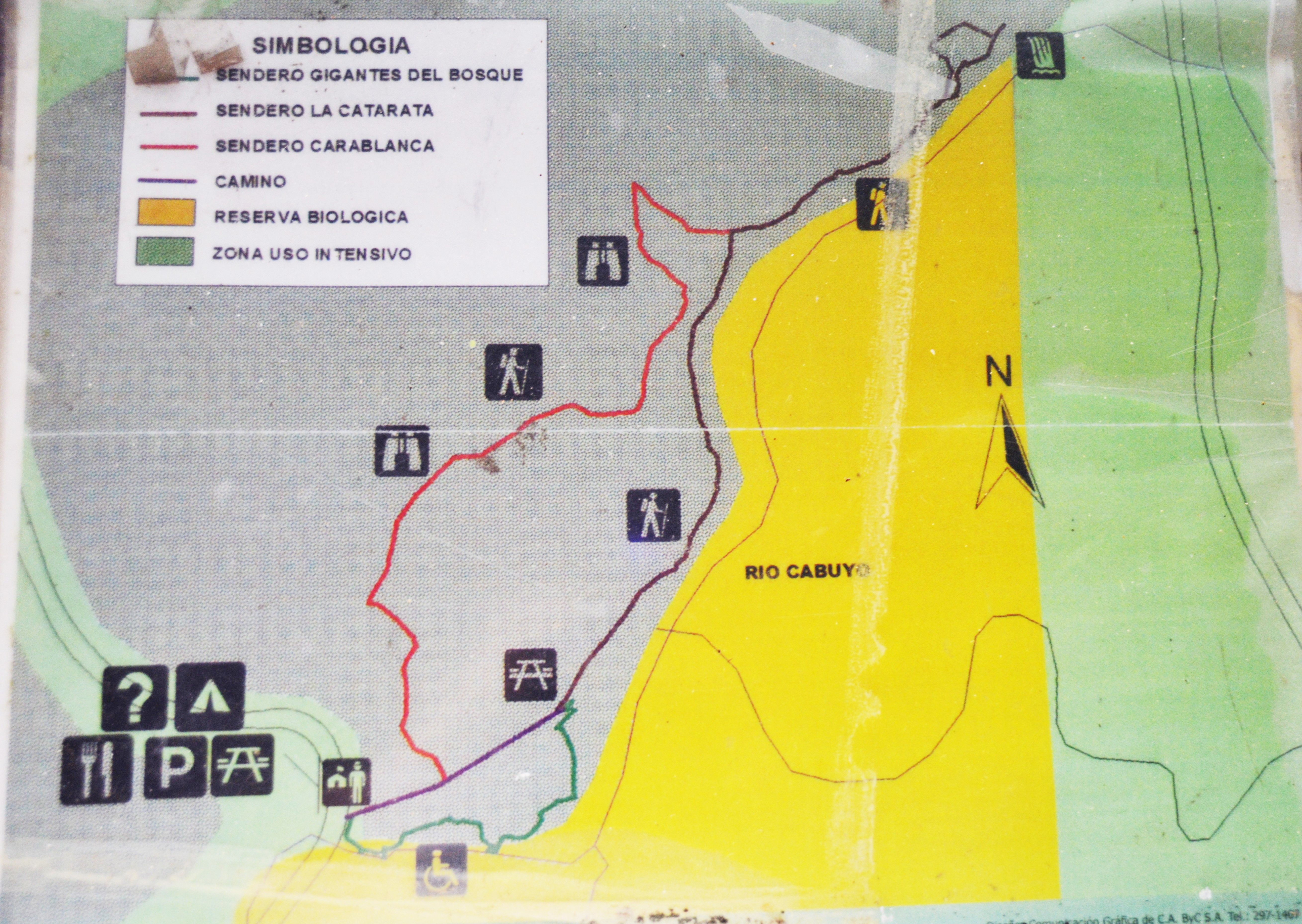 Trail Map of Lomas Barbudal Biological Reserve An awesome place to