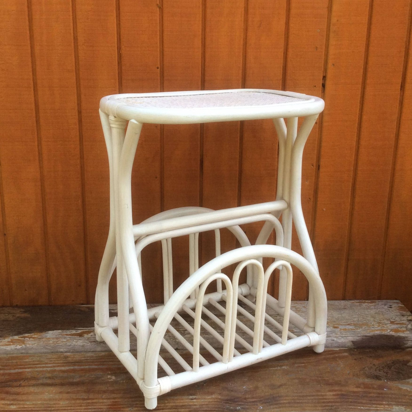 Strong Vintage Magazine Rack & Side Table bo