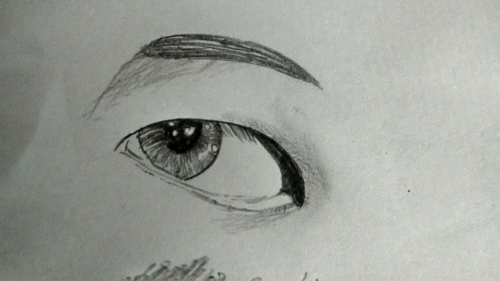 Easy Sketch of an eye Taehyung s eye BTS fanart