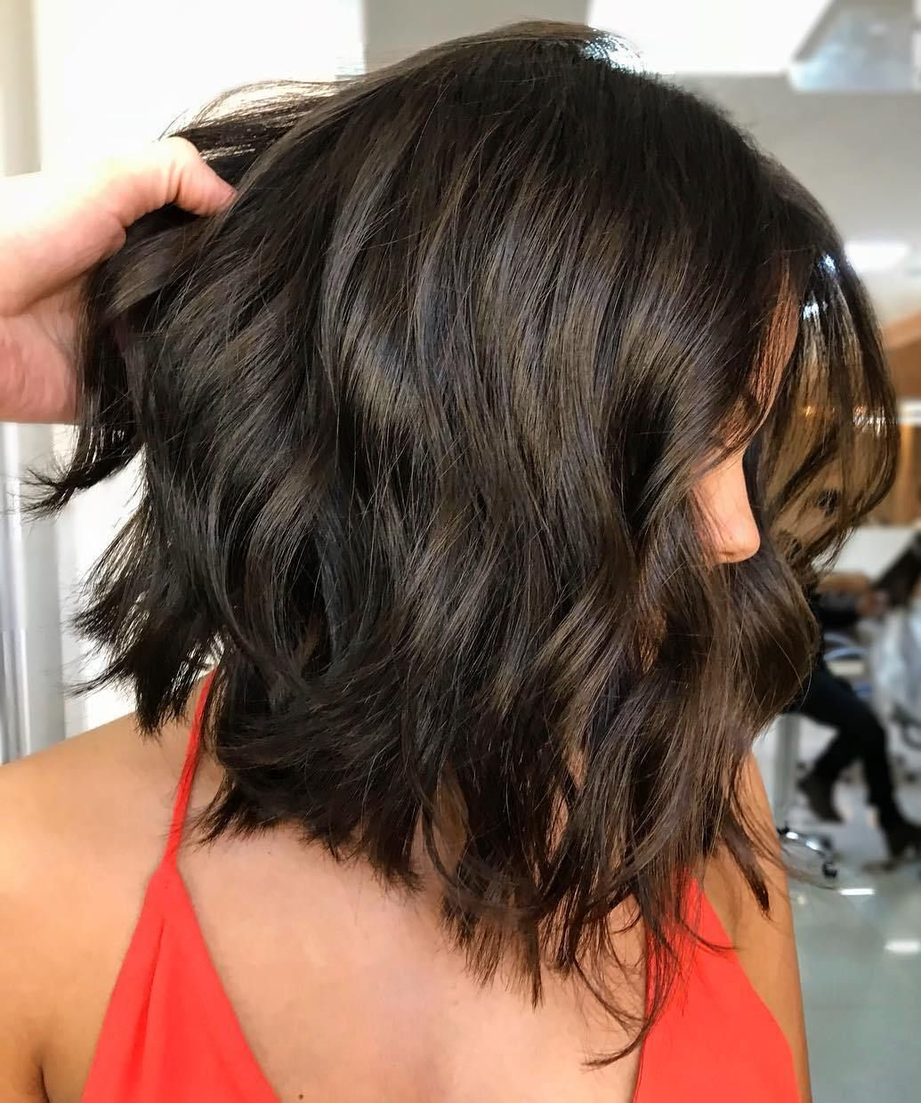 Pin on Layered thick hairstyles