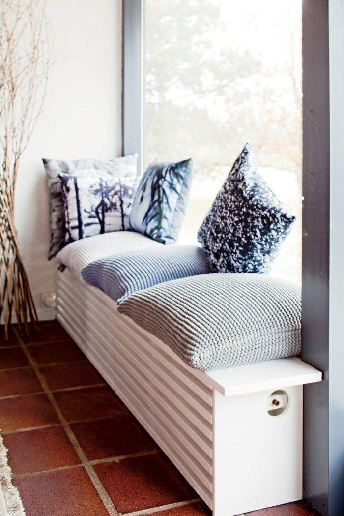 fen tre avec banc ajour pour cacher le radiateur fen tres et portes pinterest radiateur. Black Bedroom Furniture Sets. Home Design Ideas