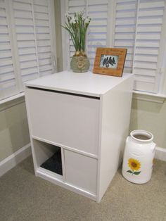 Luxury Hidden Litter Box Cabinet