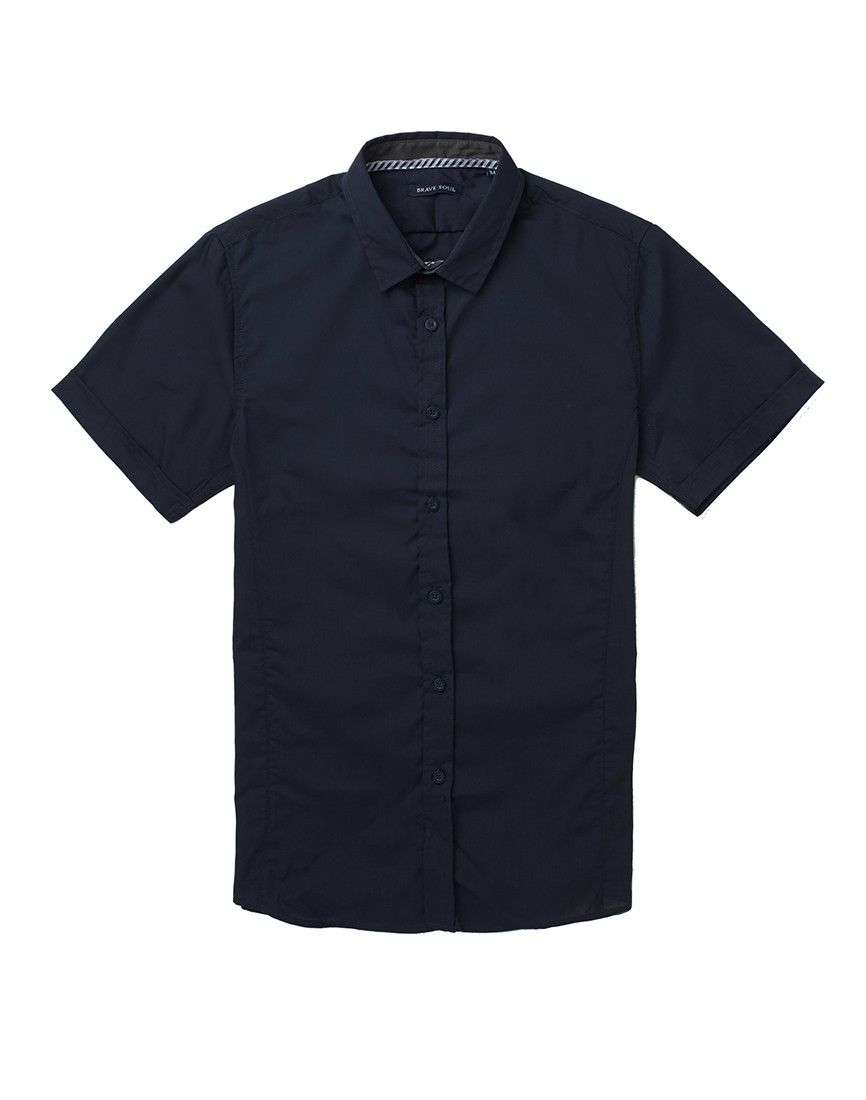 Bravesoul Mens Short Sleeve Slim Fitting Shirt