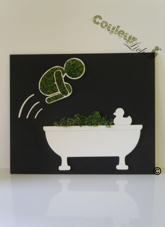 dcoration en lichen pour la salle de bain tableau vgtal le plongeur