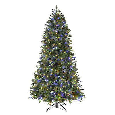 Holiday Living 7.5-ft Pre-Lit Spruce Artificial Christmas ...