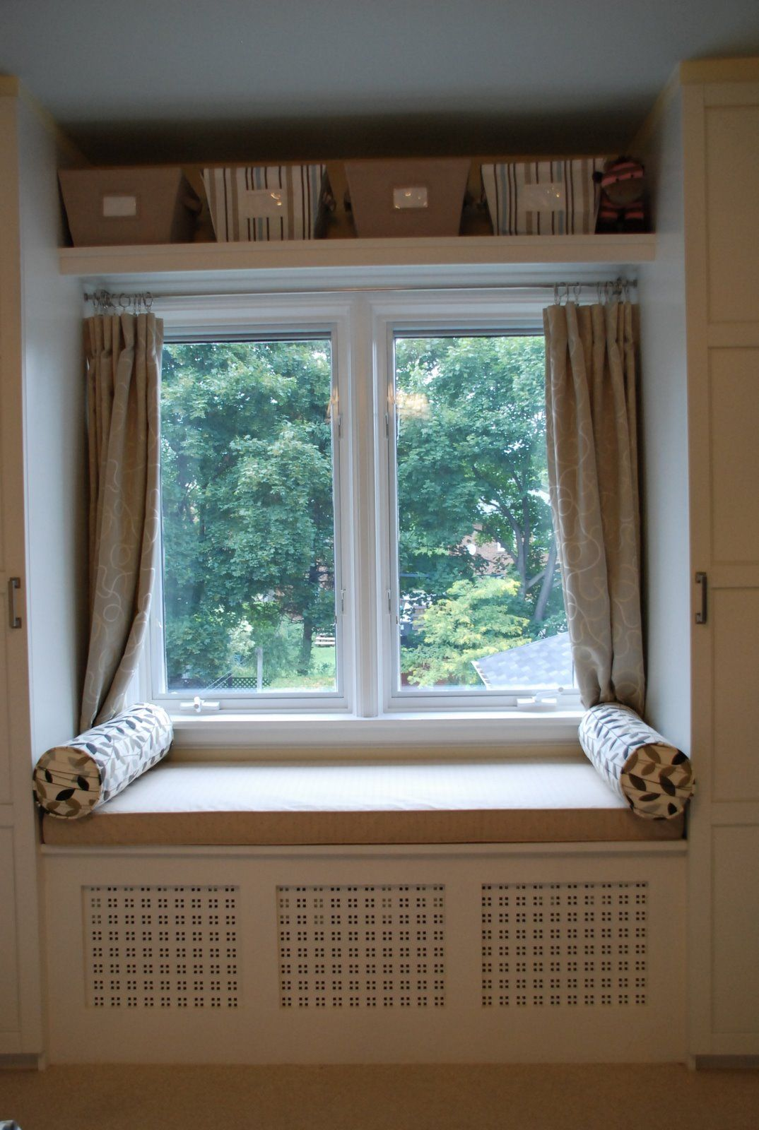 window seat curtains girls bedroom