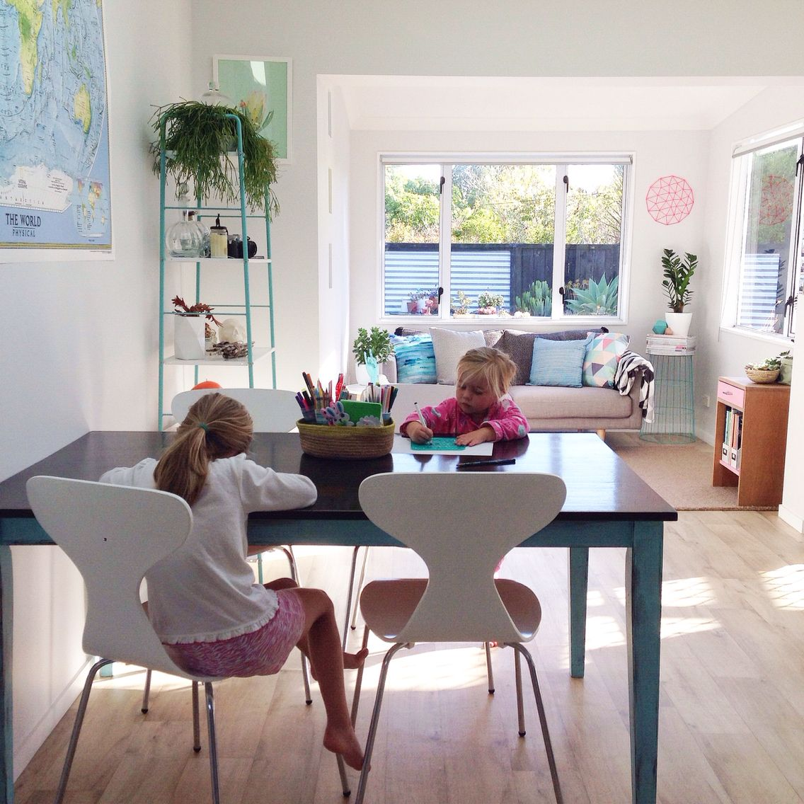 Kid Friendly Dining Room With Art Table House Styles Home