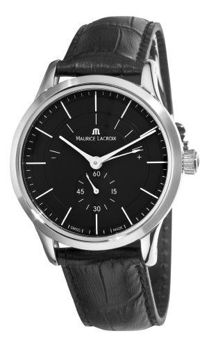 Maurice Lacroix Men's LC7008-SS001330 Les Classiques Quartz Black Power Reserve Indicator Dial Watch Maurice Lacroix. $1325.82. •Automatic movement•Black dial•Black leather strap•Deployment clasp with push button•Water-resistant to 99 feet (30 M)