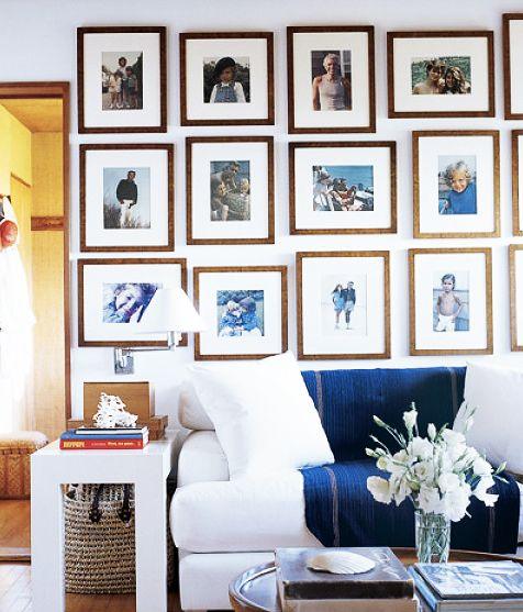Ralph Lauren Hamptons Room: White Upholstery, White Parsons Table, Wood