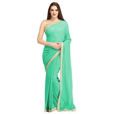 Ocean-Blue Georgette Saree SariRed Georgette Sraee Sari http://www ...
