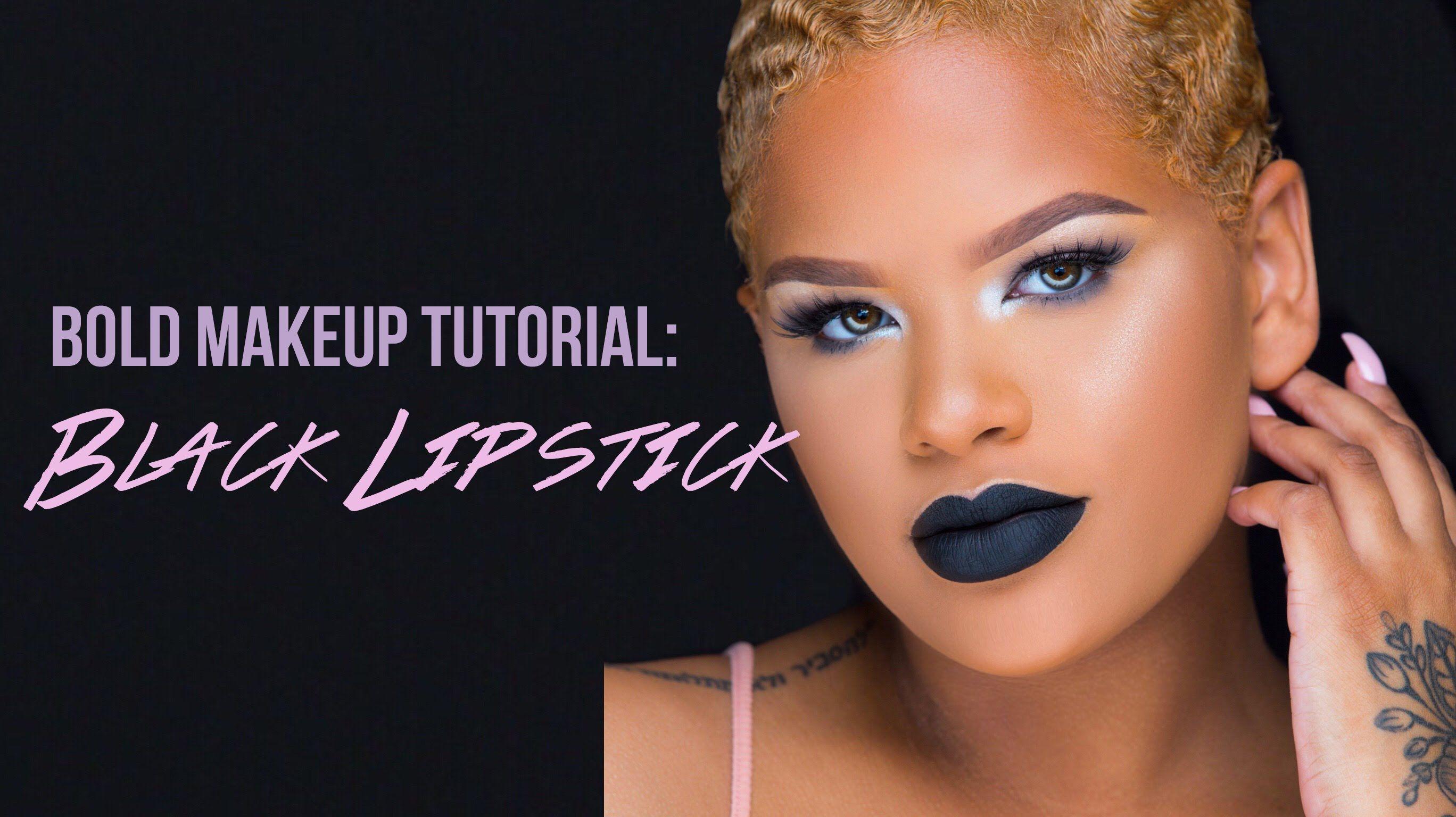 bold makeup tutorial: black lipstick collab w/ teaira walker