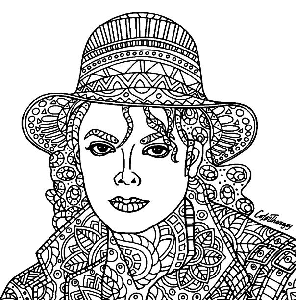 Michael Jackson #coloring | Color Therapy App. Try this app for Free ...