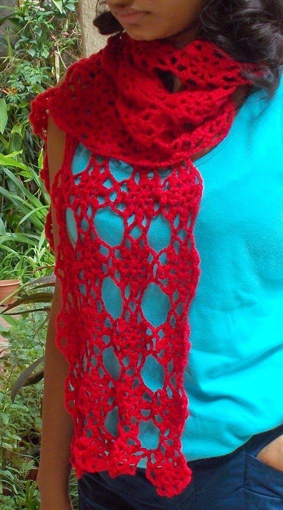 Sweet Nothings Crochet: DELICATE FLOWER SCARF