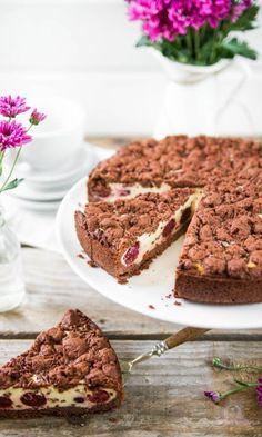 Schoko Kirsch Streuselkuchen Rezept Streuselkuchen Mit Kirschen Kuchen Streusel Kuchen