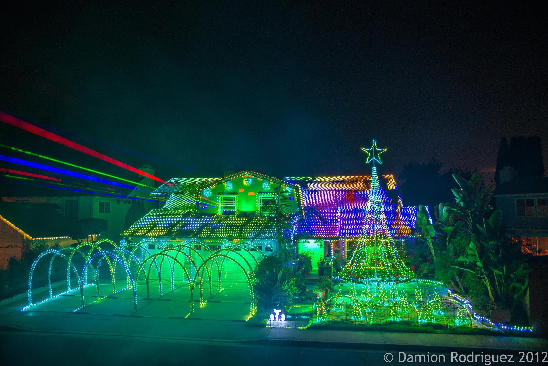 Disco Santa Fountain Valley Christmas Lights 2012