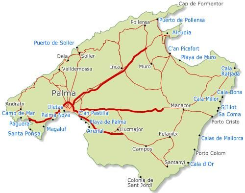 Map of Mallorca Mallorca Pinterest