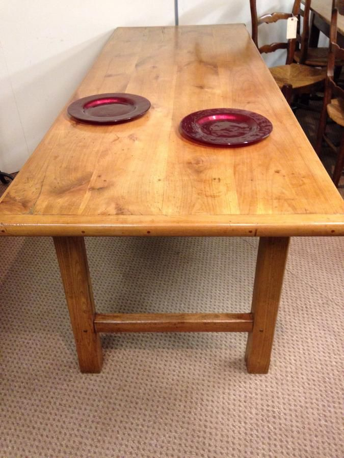 Gorgeous cherry h stretcher farm table wonderful colour and great
