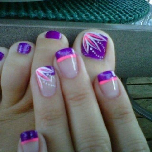 Matching toes & finger nails! | Nail design | Pinterest | Beauty ...