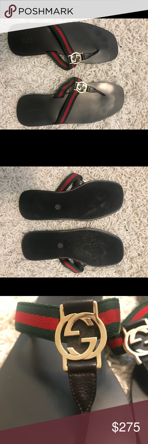 369311e148830 Gucci Thong Sandals size 8 Beautiful Gucci Thong Sandals in great  condition. Comes with original Gucci shoe bags. Gucci Shoes Sandals