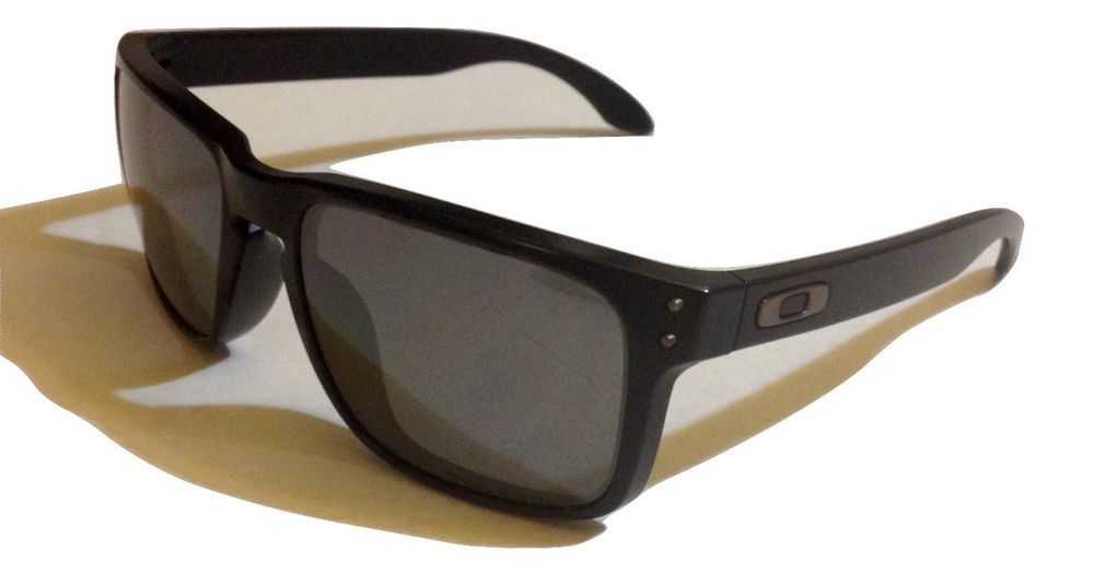 3e4931323d Oakley Holbrook OO9102-62 Polarized Matte Black with Black Iridium  Sunglasses  Oakley  Square