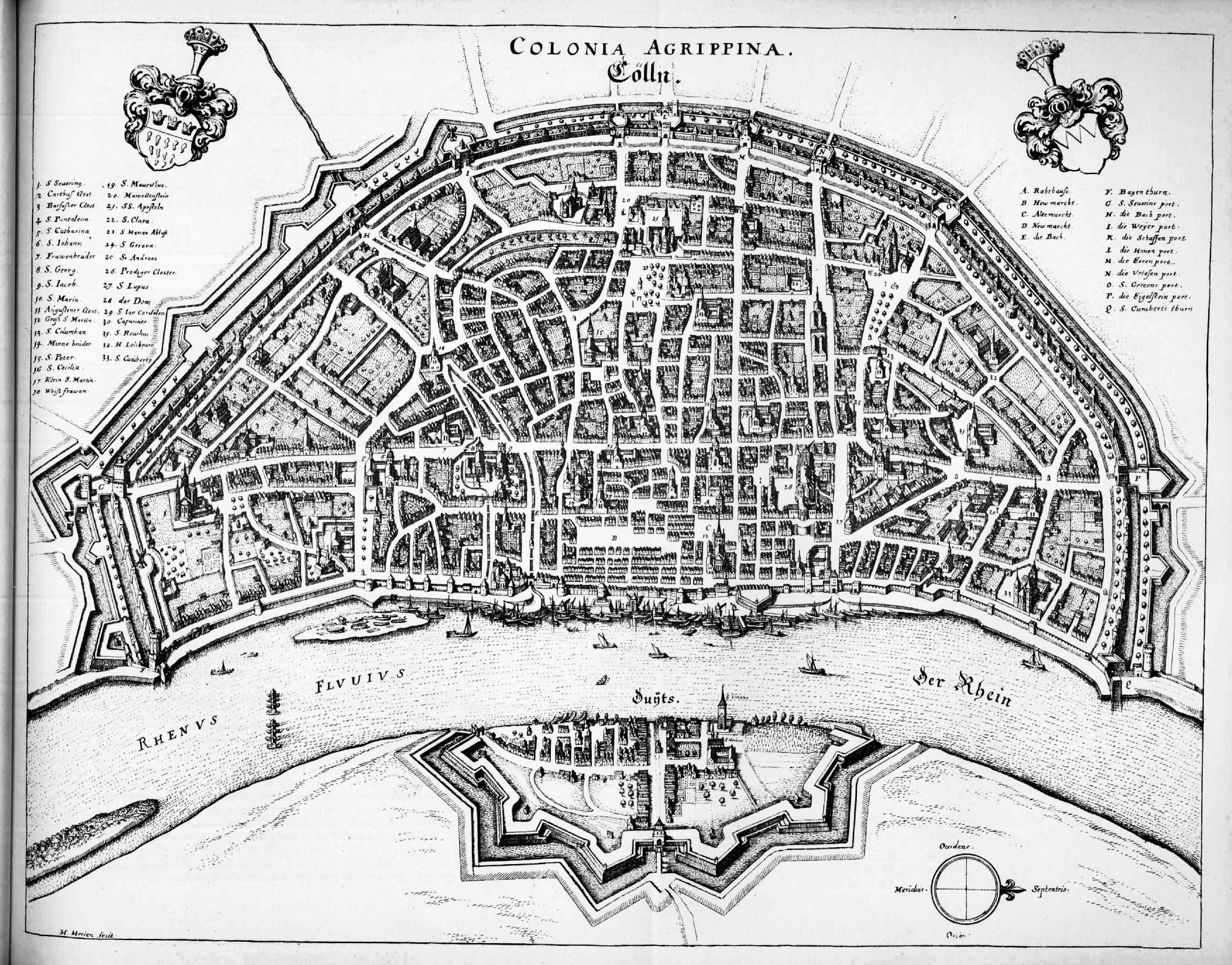 Cologne, Germany, mid 17th century | MAPS | Pinterest | 17th century