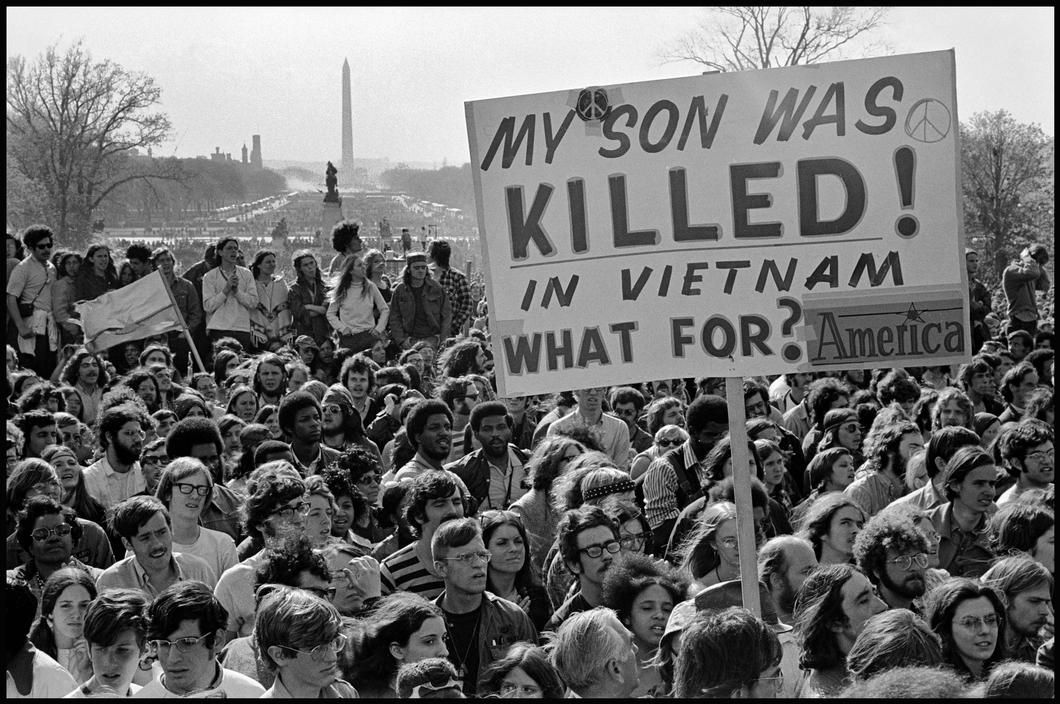 Anti-Vietnam War rally on the National Mall in Washington, D.C. ...
