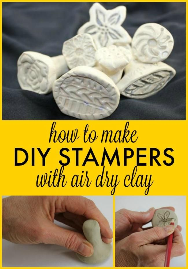 Photo of Stampin' in Style – How to Make Stamps with Air Dry Clay!