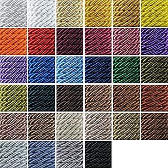 24 Colores Decoraci/ón Creativa 3mm Cord/ón Cordel De Raso 5m//25m Trenzado Viscosa Brillante Neotrims Actividad Manual Torsade A Dos Hilos Costura