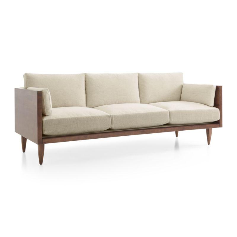 Sherwood 3 Seat Exposed Wood Frame Sofa