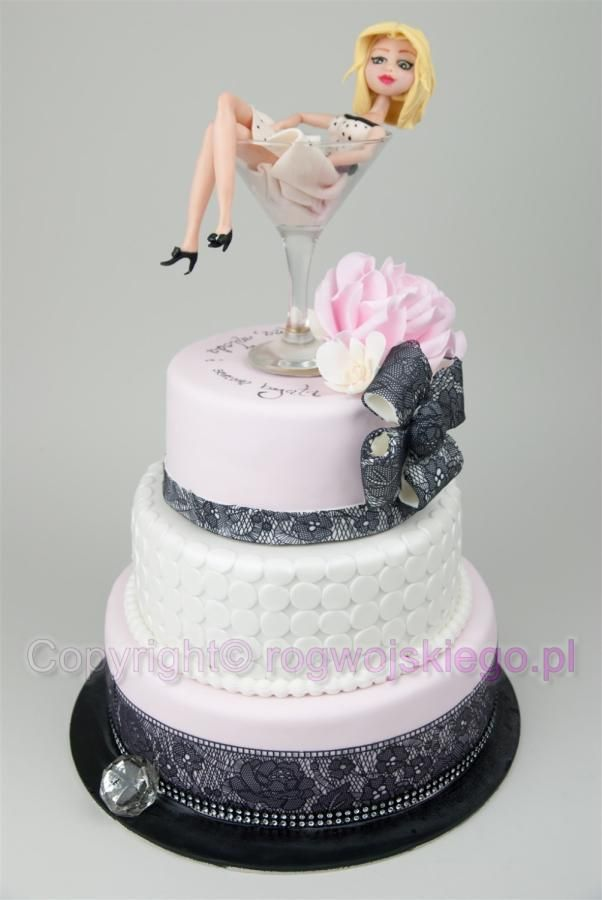 Lady In Martini Glass Cake Tort Z Panią W Kieliszku