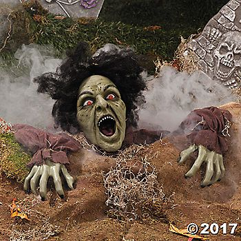 Clawing Zombie Groundbreaker with LED Eyes Zombie decorations - zombie halloween decorations