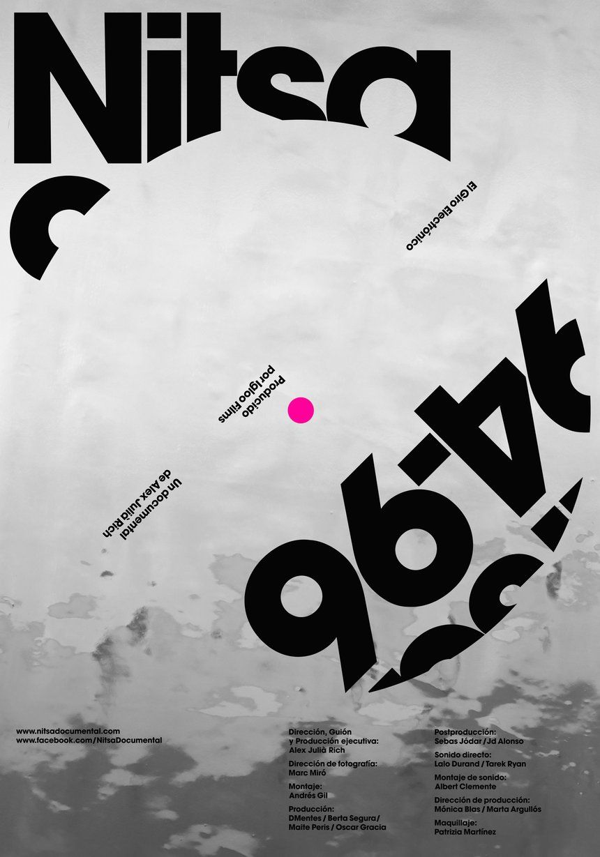 D ad poster design - Nitsa 94 96 El Giro Electr Nico Poster With Typographic Twists Typography