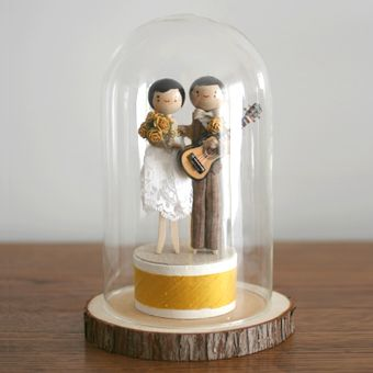 The Small Object: Keepsake Forever Displays  cake toppers