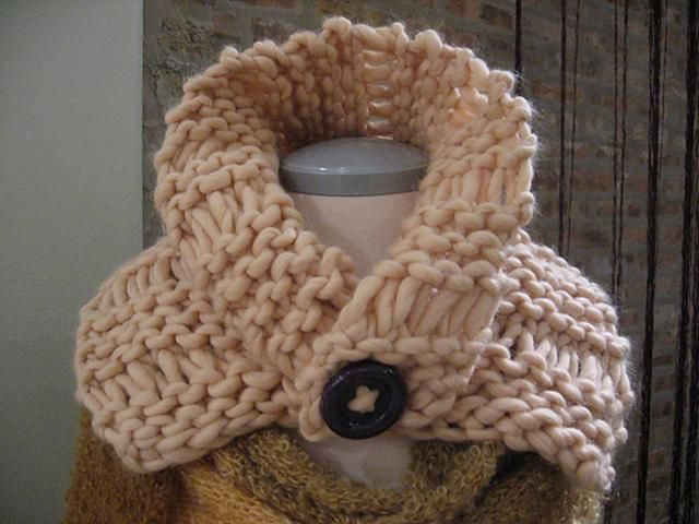 Extra Chunky Neckwarmer Knitting Pattern