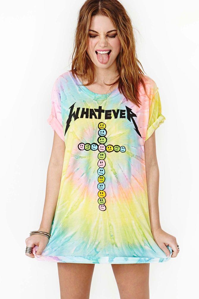 Tie-Dye T-shirt Love Festival Women/'s Yellow