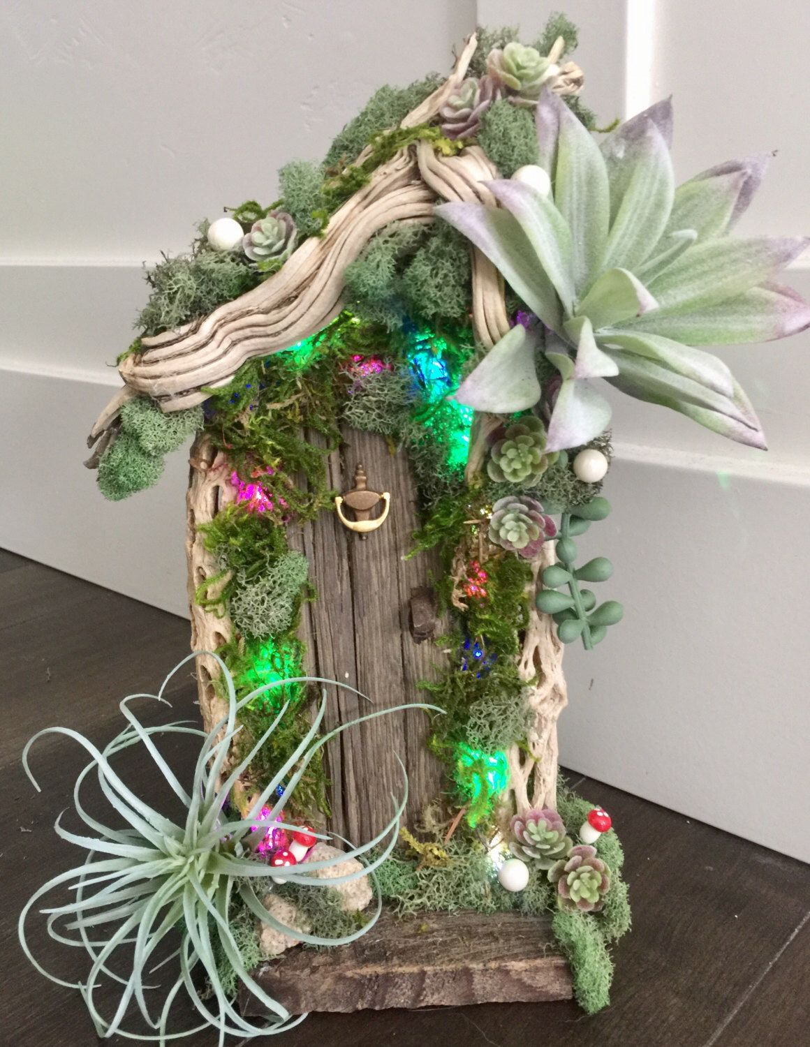 Fairy Door Lighted! Garden party /Shabby Chic/ Enchanted Forest ...