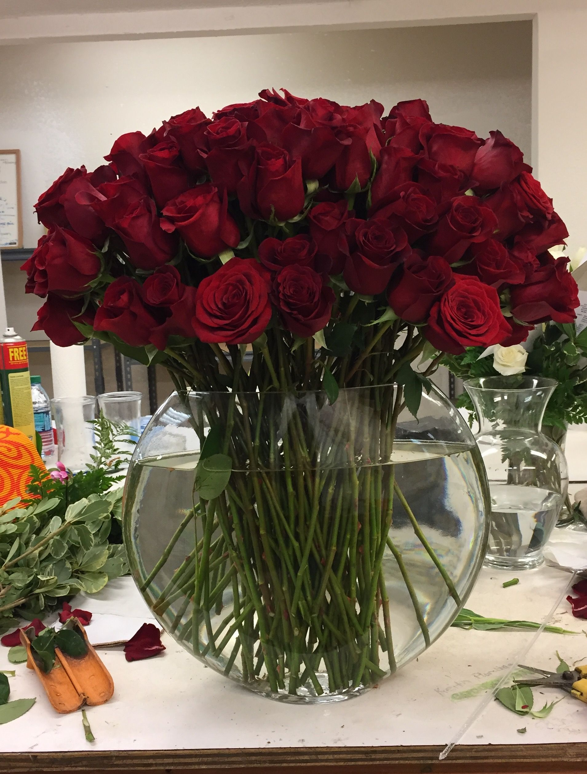 100 Roses Flower Arrangements Rose Vase 100 Roses