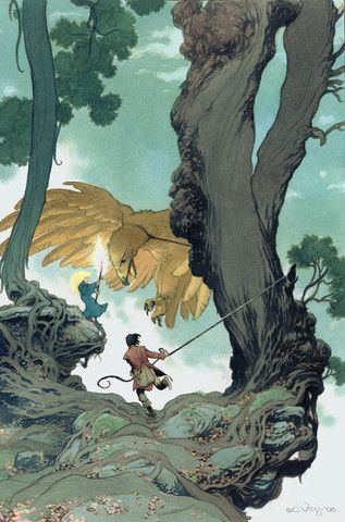 In Berenhed Forest -  Limited Edition Art Print Signed by Neil Gaiman and Charles Vess