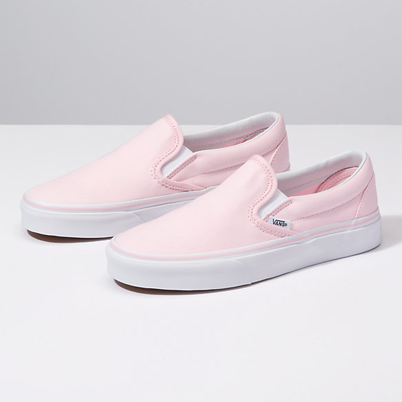 SlipOn   Shop Classic Shoes is part of Slip on sneakers, Leather shoes woman, Girls shoes, Womens shoes wedges, Sneakers fashion, Cute womens shoes -  				The Classic SlipOn features sturdy low profile slipon canvas uppers, padded collars, elastic side accents, and signature rubber waffle outsoles