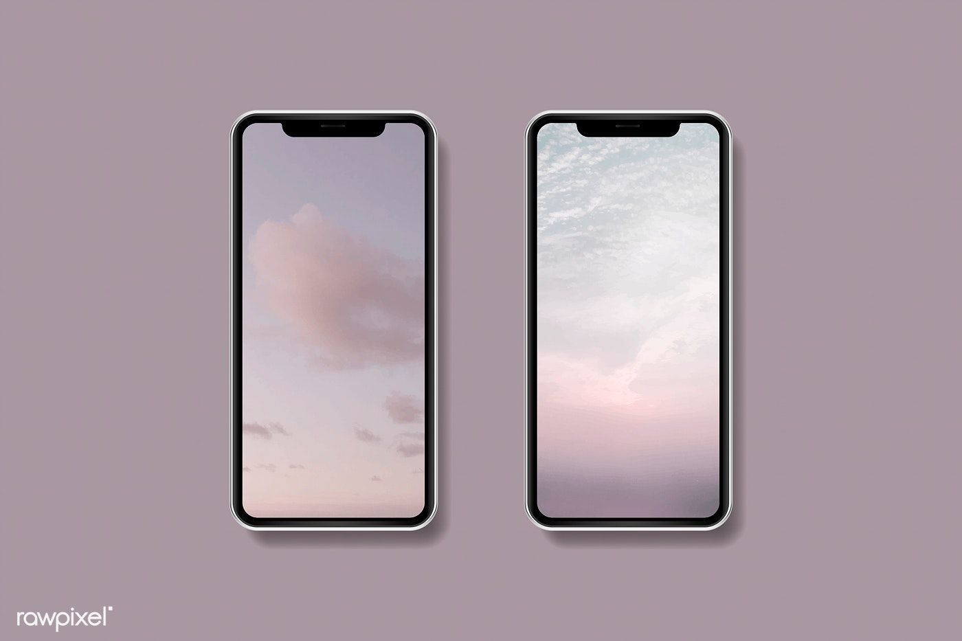 Download Premium Vector Of Pink Sky Mobile Phone Wallpaper Mockup Vector Phone Mockup Phone Cover Design Phone