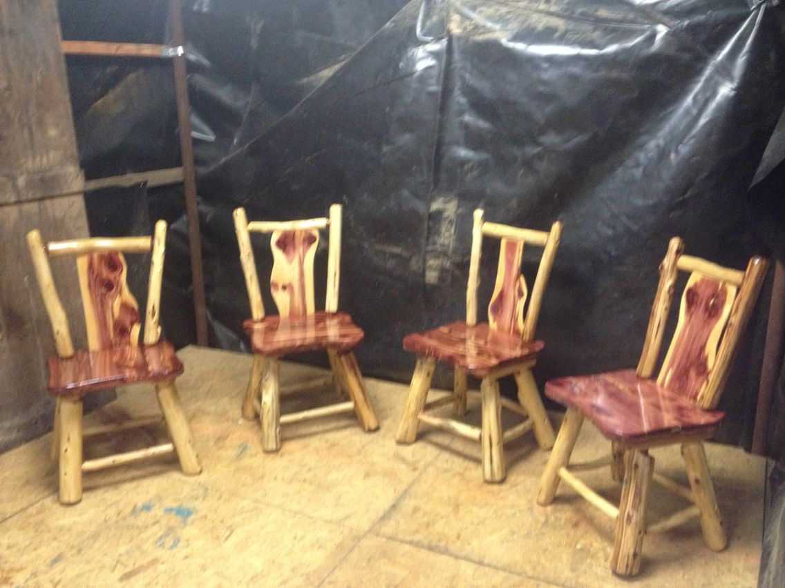 Log Kitchen Table And Chairs Part - 28: Log Kitchen Table Chairs