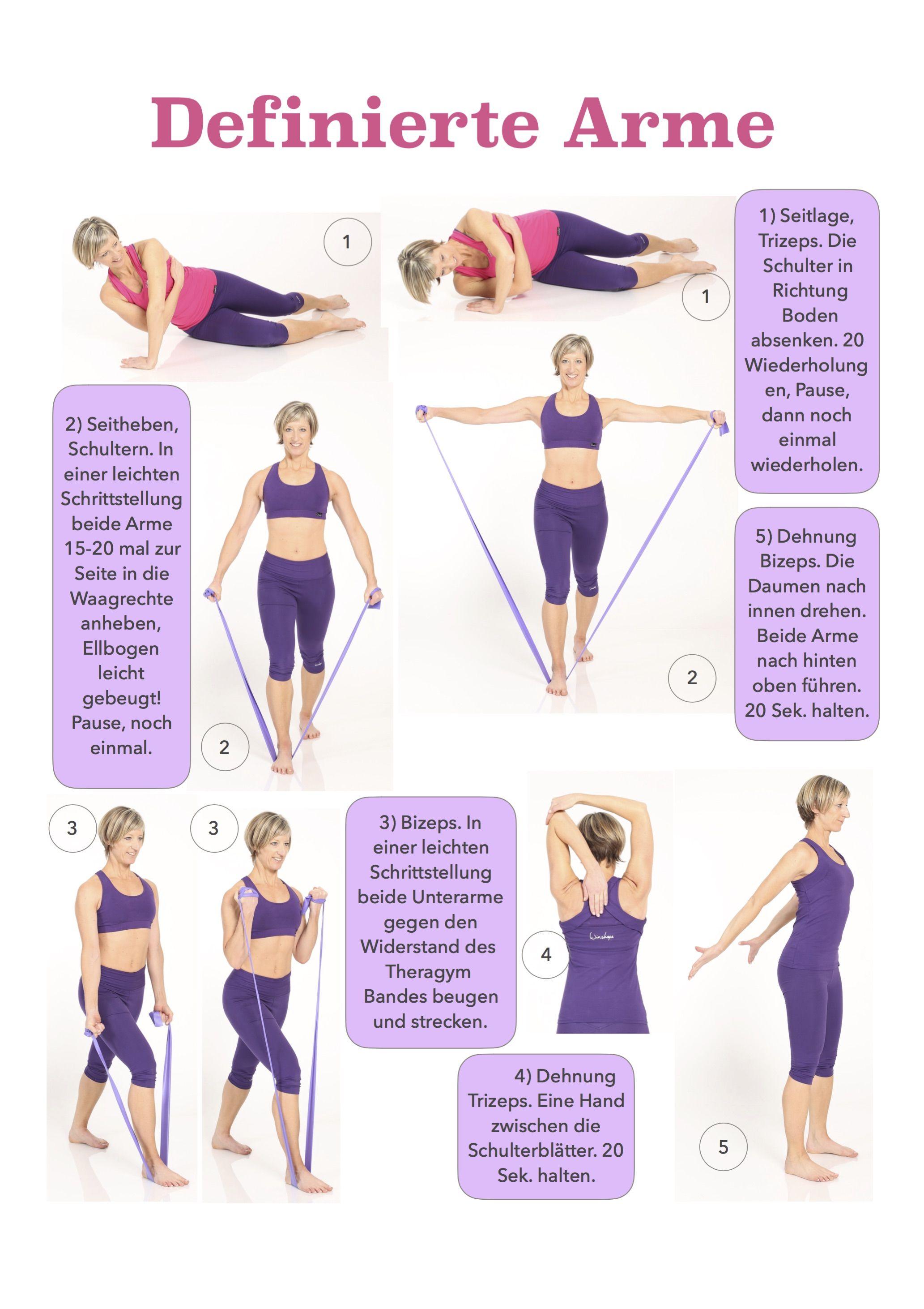 Übungen zum Abnehmen von Armen und Taille
