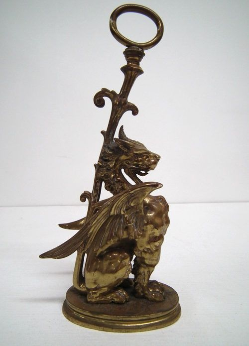 Antique Door Stops and Door Porters, Cast Brass Dragon Door Stop. Circa  cast brass door stop stylised as a mythical winged dragon, with a tail that  rises up ... - Antiques Atlas - Cast Brass Dragon Door Stop Antique Door Stops