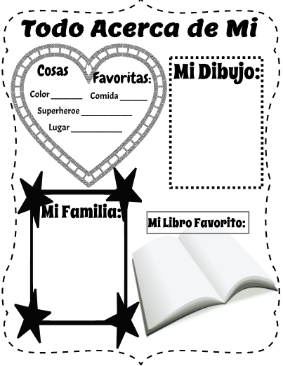 Todo Sobre Mi/All About Me: Perfect for your bilingual