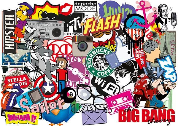 Pegatinas: Sticker Bomb para decorar tablas de surf o skate 6 ...