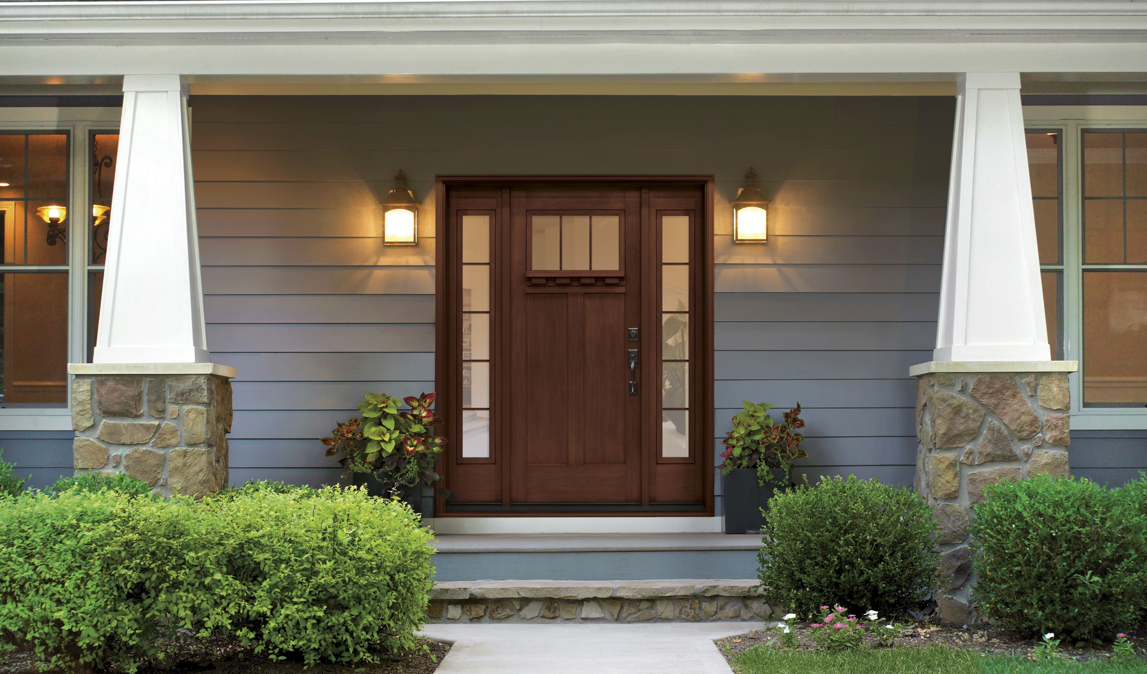 Fiberglass Entry Doors Clopay Craftsman Collection Hightower